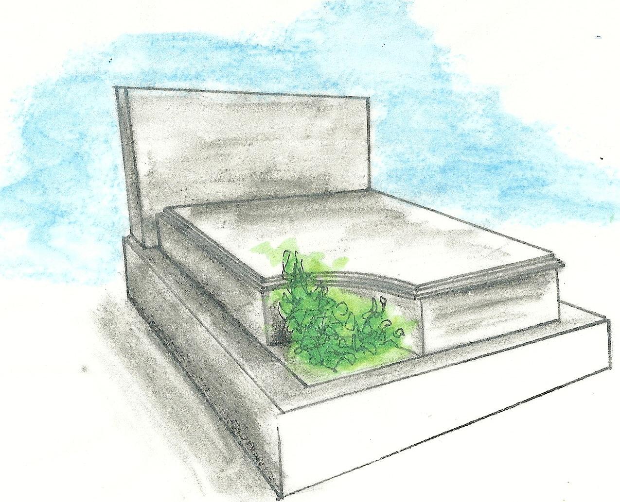 Entretien d'une tombe double en granit ou en marbre
