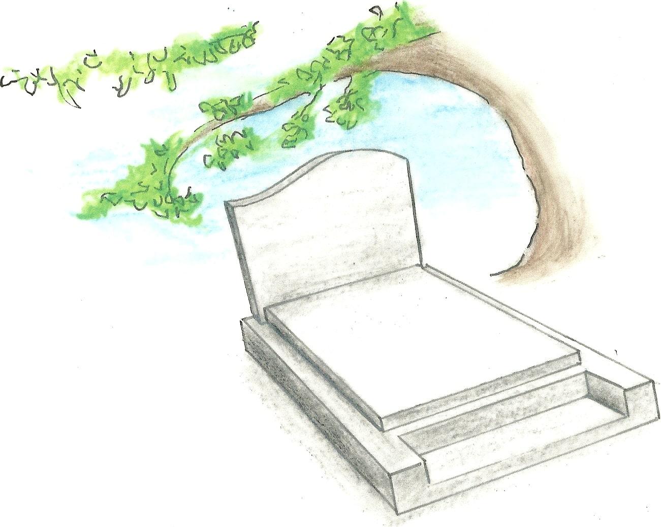 Entretien d'une tombe simple en granit ou en marbre